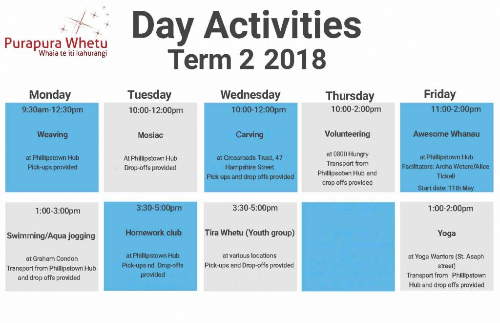 timetable term 2